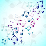 International Music Day.Multicolor 3D music background Stock Photos