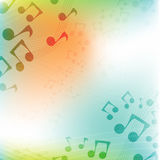International Music Day.Multicolor flat music background Royalty Free Stock Image