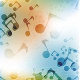 International Music Day.Multicolor flat music background Royalty Free Stock Photos