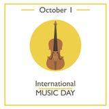 International Music Day, October 1 Stock Image