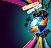 International Music Event Background. International Disco Event Background with Musical Design elements royalty free illustration