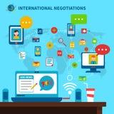 International Negotiations Illustration Royalty Free Stock Images