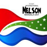 International Nelson Mandela Day. Illustration of a Banner for International Nelson Mandela Day Royalty Free Stock Images