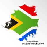 International Nelson Mandela Day. Illustration of a Banner for International Nelson Mandela Day Stock Image