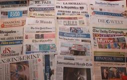 International newspaper Stock Photos
