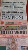 Italian sports newspaper royalty free stock photo