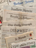 International newspaper Royalty Free Stock Image