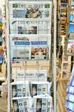 International newspapers stand in Italy  Stock Images