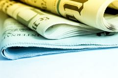 International newspapers. Close up detail of international newspapers royalty free stock images