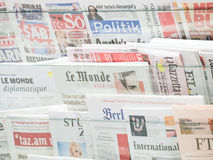 International newspapers Stock Images
