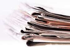 International newspapers on white. Stock Photography