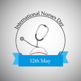 International Nurse Day background royalty free illustration