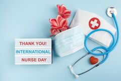 International nurse day background. Medical background. Healthcare medicine concept. Thak you for nurse.