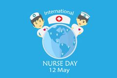 International nurse day on May every year design by vector in tonality tone concept stock illustration