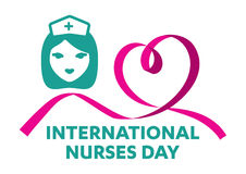 International Nurses Day logo Royalty Free Stock Images
