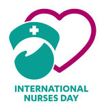 International Nurses Day logo Stock Image