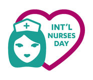 International Nurses Day logo Royalty Free Stock Image
