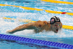 Olympic champion Michael Phelps of United States competes at the Men`s 200m butterfly at Rio 2016 Olympic Games  Stock Images