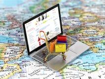 International online shopping. Royalty Free Stock Photo