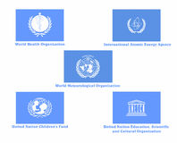 International organizations flags Royalty Free Stock Images