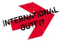 International Outfit rubber stamp Royalty Free Stock Photos