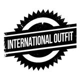 International Outfit rubber stamp Stock Image