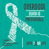 International Overdose Awareness Day. Abstract design background illustration Stock Image