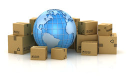 International package delivery concept Stock Photos