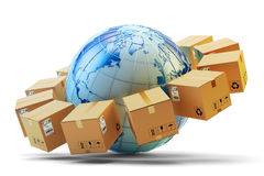 International package delivery concept Stock Image