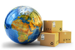 International package delivery concept Royalty Free Stock Images