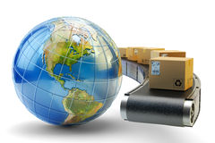 International package delivery and parcels shipping concept Royalty Free Stock Images