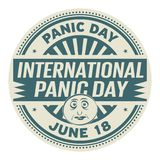 International Panic Day. June 18, rubber stamp, vector Illustration Stock Photo