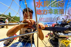 International Paramotor air show Royalty Free Stock Photo