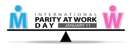 International parity at work day background. International parity at work day on January 11 background Stock Images