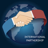International Partnership Icon Businessman Stock Photos