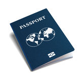 International passport blue cover isometric 3d vector template Stock Images