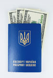 International passport with money Royalty Free Stock Photography