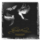 International Peace Day grunge poster design Royalty Free Stock Photography