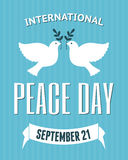 International Peace Day Poster Royalty Free Stock Photos