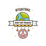 International Peace Day. Vector illustration. Pacific symbol Stock Images