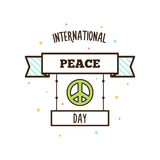 International Peace Day. Vector illustration. Pacific symbol Stock Photos