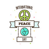 International Peace Day. Vector illustration. Pacific symbol Royalty Free Stock Photography