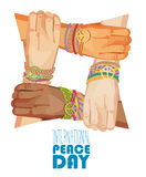 International peace day vector poster Stock Image