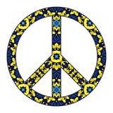 International peace symbol  on white Stock Photography