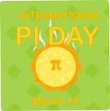 International pi day march 14 royalty free illustration
