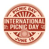 International Picnic Day. June 18, rubber stamp, vector Illustration Royalty Free Stock Photography