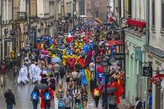 International pilgrims in Krakow stock photo
