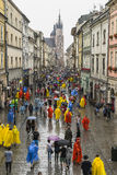 International pilgrims in Krakow Stock Photos