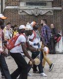 International pilgrims in Krakow Royalty Free Stock Photo