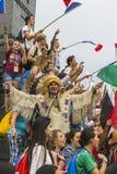 International pilgrims in Krakow Stock Photography